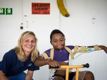 Tara McHardy with young patient