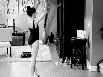 Side view of girl dancing