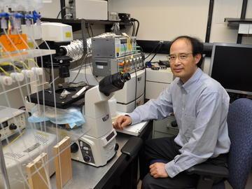 Dr. Wayne Chen, PhD, in his lab