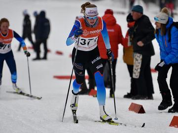 Beth Granstrom competing at the World Junior/U23 Championship Trials in Mont St-Anne, Quebec.
