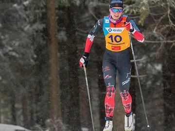 Annika Richardson competing at the U23 World Championships in Oberwiesenthal, Germany - 10km Individual Start.