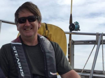Ian, sailing his 28-footer on Mahone Bay