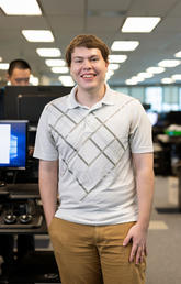 Software engineering student Nicholas Langley