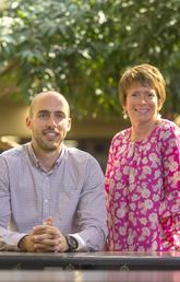 Joel Mader and Dr. Jacqueline Smith, assistant professor, UCalgary Nursing