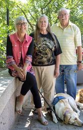 Dr. Eloise Carr, professor and team members Pamela Pyle and Robert Pyle