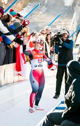 Olympics-bound University of Calgary engineering student Alex Gough is already Canada's best luger ever, and she hopes to cap her Olympic career with more success in South Korea. Photo courtesy Alex Gough