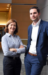 Cathy Eastwood and researcher Greg Hallihan are working closely with the World Health Organization on the 11th revision of the International Classification of Diseases. Photo by Michael Wood, O'Brien Institute for Public Health