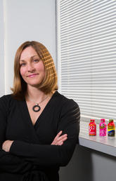 """Jane Shearer, associate professor in the Faculty of Kinesiology, says children and adolescents run a higher risk of complications from caffeine. """"Energy drinks loaded with caffeine are not a sports drink. Many parents do not recognize this difference."""" Photo by Riley Brandt, University of Calgary"""