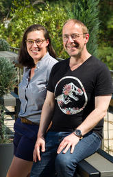 Marie-Andrée Bergeron and Dennis Storoshenko are helping organize a booth at Pride in the Park, an event to be held on Prince's Island Park after the Sept. 2 Pride parade.