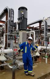 Schulich student Kristofer Chiu enjoys some hands-on internship experience at an energy facility near Fort McMurray.