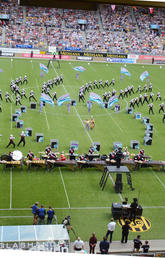The Stampede Showband performs at the World Music Contest in Kerkrade, the Netherlands in 2017.