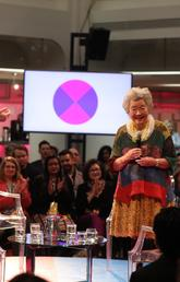 John Ralston Saul, left, and the Right Honourable Adrienne Clarkson welcome participants to 6 Degrees Calgary, a conference discussing the power the arts have to build inclusive societies. Photo by Neil Zeller, Institute for Canadian Citizenship