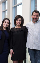 From left: The University of Calgary's Isra Safadi, Ghada Alatrash, and Yahya El-Lahib are joining with members of Calgary's Syrian community to organize The Journey to Resilience event on Jan. 25, 2019. Photo by Riley Brandt, University of Calgary