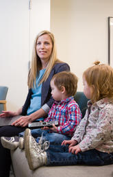 University of Calgary researcher Sheri Madigan and co-authors of the study recommend that families create a family media plan to help limit screen time and encourage interaction with others. Photos by Riley Brandt, University of Calgary