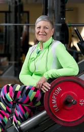 Deb Baranec struggled with obesity and osteoarthritis for 30 years. Now she works out six days a week and has lost 190 pounds. Photos by Don Molyneaux, for the McCaig Institute for Bone and Joint Health