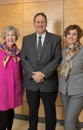 From left: Mavis Clark, Don Morris, and Bev Longstaff.
