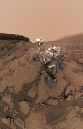 A self-portrait of NASA's Curiosity Mars rover shows the vehicle in the Murray Buttes area of the planet on Sept. 17, 2016. The scene combines about 60 images taken by a camera at the end of the rover's robotic arm, during the 1,463rd Martian day of Curiosity's work on Mars. Image courtesy NASA/JPL-CALTECH/MSSS