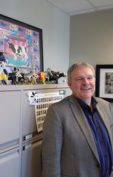 Herman Barkema has received a Killam Annual Professorship for his work on infectious diseases in dairy cattle. Photo by Riley Brandt, University of Calgary