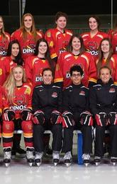 UCalgary Dinos women's hockey team.