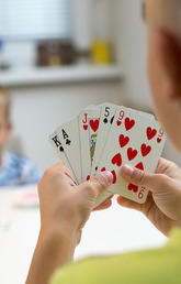 There are many daily ways math can be relevant to children – from using money to matching or counting cards.