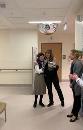 Joyce Nishi celebrates a milestone in her cancer journey. With her are colleagues and oncology pharmacists from the Margery E. Yuill Cancer Centre in Medicine Hat. From left: Joyce Nishi, Carmen Olson, Terrie Chapdelaine and Chandel Lovig. Photo courtesy Joyce Nishi