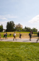 University of Calgary campus in motion