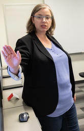 Graduate Scholarship Officer Erin Coburn delivers scholarship workshop