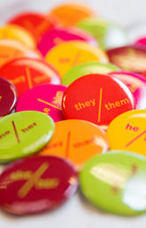Pins help normalize pronouns