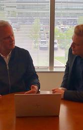 Reid Collins with Ken Lebioda