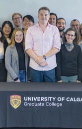 James Wasmuth with members of the UCalgary Graduate College