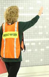 An emergency warden.