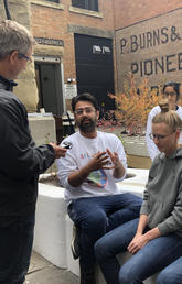 Students explain why alley activation is important