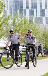Security guys on bikes