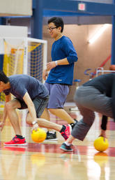 Dodgeball activities during UFlourish