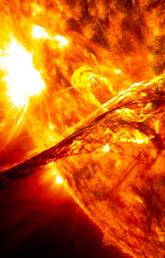 Closeup of the sun