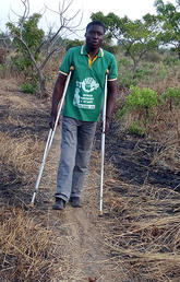 David Achuroa on the rough path he walked to school every day in the Builsa North District of Ghana.