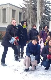 Lisa Fedorak with our TAB (Teaching Across Borders) students from China and Japan