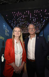 Kathy McCoy and Andre Buret at Canadian Museum of Nature