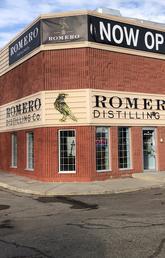 Exterior of Romero Distilling Co.