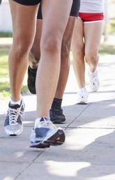 Many people running