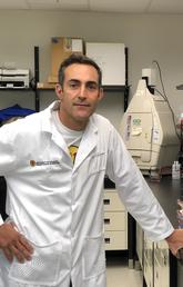Dr. Eduardo Cobo's lab studies how a peptide secreted by the immune system in the small intestine protects animals from toxoplasmosis, a parasitic disease with no known cure.