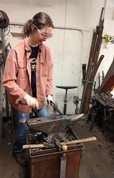 Dr. Elizabeth Paris - blacksmith extraordinaire!