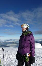 Sarah Rugheimer on a mountain