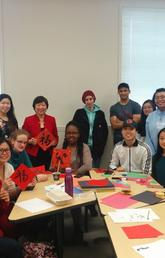 Students in CHIN 207 celebrate the incoming Year of the Dog