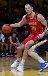 Brett Layton on the basketball court
