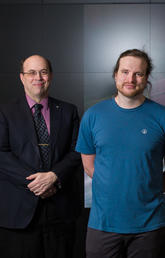 Dr. Robert Thompson and PhD student Andrew Evans