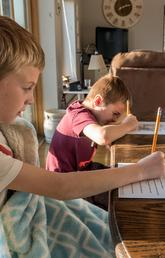 Working and studying from home with children during COVID-19