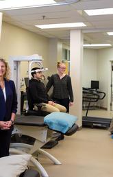 Kathryn Schneider and patients