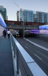 Calgary underpass design brightens pedestrian experience