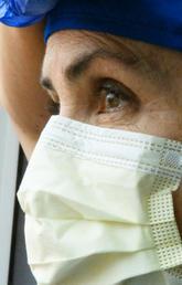 Masked nurse